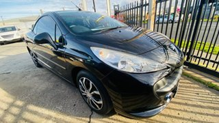 2008 Peugeot 207 A7 CC Black 4 Speed Sports Automatic Cabriolet.