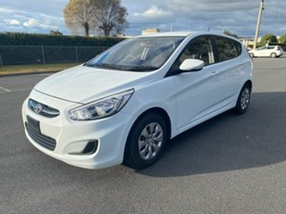 2016 Hyundai Accent RB4 MY16 Active White 6 Speed Manual Hatchback