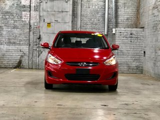 2015 Hyundai Accent RB3 MY16 Active Red 6 Speed Constant Variable Hatchback.