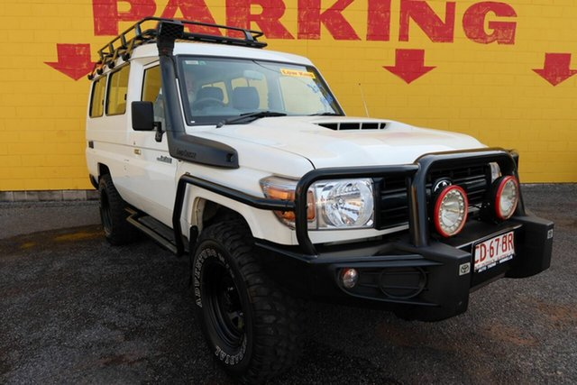 Used Toyota Landcruiser VDJ78R Workmate Troopcarrier Winnellie, 2019 Toyota Landcruiser VDJ78R Workmate Troopcarrier White 5 Speed Manual Wagon