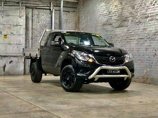 2017 Mazda BT-50 UR0YG1 XT Freestyle 4x2 Hi-Rider Black 6 Speed Sports Automatic Cab Chassis.