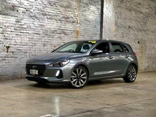 2017 Hyundai i30 PD MY18 SR D-CT Grey 7 Speed Sports Automatic Dual Clutch Hatchback.