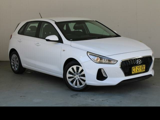 Used Hyundai i30 PD MY19 Go Belconnen, 2019 Hyundai i30 PD MY19 Go White 6 Speed Automatic Hatchback