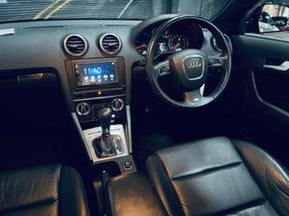 2010 Audi A3 8P MY11 TFSI Sportback S Tronic Ambition Black 7 Speed Sports Automatic Dual Clutch.