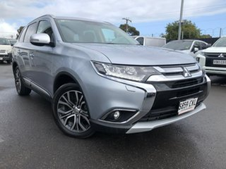 2016 Mitsubishi Outlander ZK MY16 Exceed 4WD Silver 6 Speed Sports Automatic Wagon.