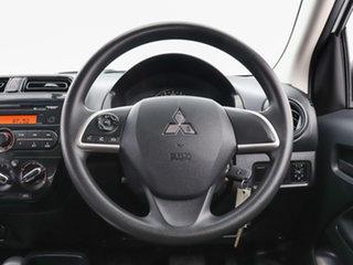 2016 Mitsubishi Mirage LA MY15 ES White Continuous Variable Hatchback