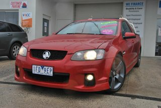 2011 Holden Commodore VE II SV6 Thunder Red 6 Speed Manual Utility.