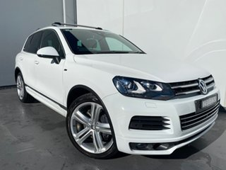 2013 Volkswagen Touareg 7P MY13 V8 TDI Tiptronic 4MOTION R-Line White 8 Speed Sports Automatic Wagon.
