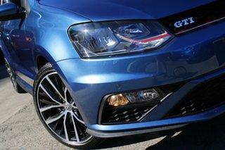 2016 Volkswagen Polo 6R MY16 GTi Blue 6 Speed Manual Hatchback.