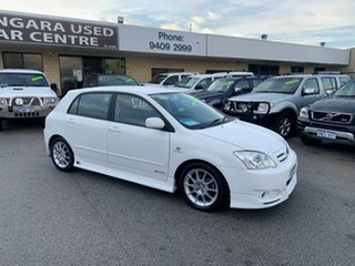2006 Toyota Corolla ZZE122R Ascent Sport Seca White 4 Speed Automatic Hatchback.