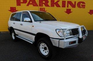 1999 Toyota Landcruiser GXL White 5 Speed Automatic Wagon.