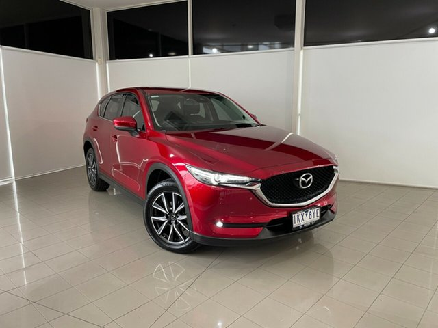 Used Mazda CX-5 KF4WLA GT SKYACTIV-Drive i-ACTIV AWD Deer Park, 2017 Mazda CX-5 KF4WLA GT SKYACTIV-Drive i-ACTIV AWD Red 6 Speed Sports Automatic Wagon