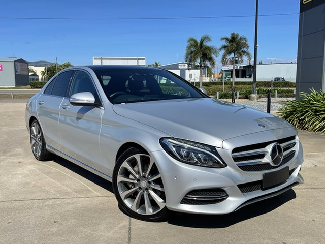 Used Mercedes-Benz C-Class W205 C250 BlueTEC 7G-Tronic + Townsville, 2014 Mercedes-Benz C-Class W205 C250 BlueTEC 7G-Tronic + Silver/120115 7 Speed Sports Automatic
