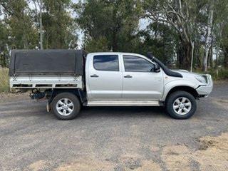 2012 Toyota Hilux KUN26R MY12 SR (4x4) Sterling Silver 5 Speed Manual Dual Cab Chassis.