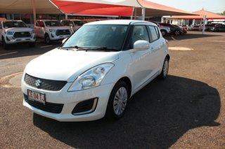 2014 Suzuki Swift FZ MY14 GL Quartz White 4 Speed Automatic Hatchback.