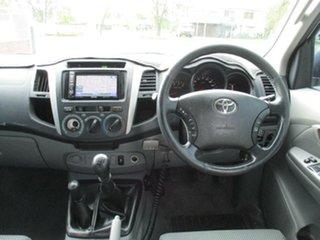 2011 Toyota Hilux KUN26R MY10 SR5 White 5 Speed Manual Utility