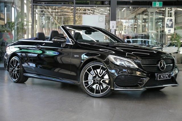 Used Mercedes-Benz C-Class A205 809MY C43 AMG 9G-Tronic 4MATIC North Melbourne, 2018 Mercedes-Benz C-Class A205 809MY C43 AMG 9G-Tronic 4MATIC Black 9 Speed Sports Automatic