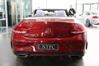 2016 Mercedes-Benz C-Class A205 C300 9G-Tronic Red 9 Speed Sports Automatic Cabriolet