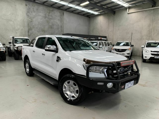 Used Ford Ranger PX MkII XLT Double Cab Coburg North, 2017 Ford Ranger PX MkII XLT Double Cab White 6 Speed Manual Utility