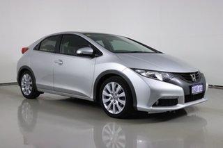 2012 Honda Civic FK VTi-L Silver 5 Speed Automatic Hatchback.
