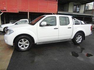 2013 Nissan Navara D40 MY12 ST (4x2) White 5 Speed Automatic Dual Cab Pick-up.