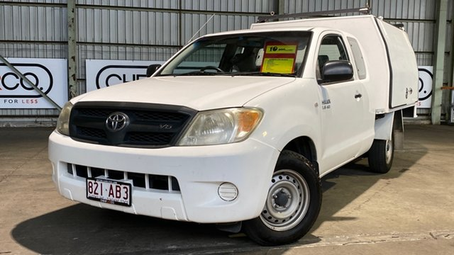 Used Toyota Hilux GGN15R MY08 SR Xtra Cab 4x2 Rocklea, 2008 Toyota Hilux GGN15R MY08 SR Xtra Cab 4x2 White 5 Speed Automatic Utility