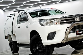 2018 Toyota Hilux GUN126R MY19 SR (4x4) White 6 Speed Automatic X Cab Cab Chassis.