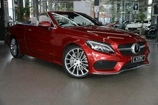 2016 Mercedes-Benz C-Class A205 C300 9G-Tronic Red 9 Speed Sports Automatic Cabriolet.