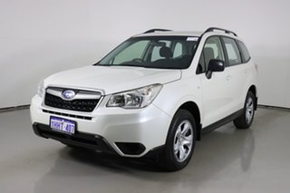 2014 Subaru Forester MY14 2.5I White Continuous Variable Wagon.