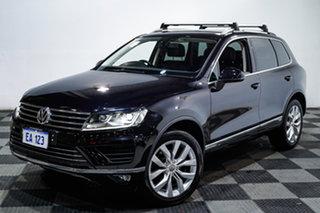 2016 Volkswagen Touareg 7P MY16 V6 TDI Tiptronic 4MOTION Black 8 Speed Sports Automatic Wagon.