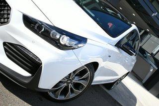 2021 Hyundai i30 PD.V4 MY21 N Line Premium Polar White 6 Speed Manual Hatchback.