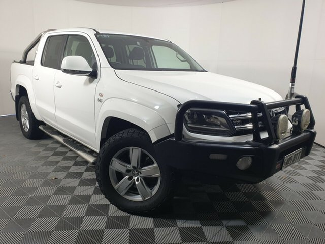 Used Volkswagen Amarok 2H MY18 TDI550 4MOTION Perm Highline Wayville, 2017 Volkswagen Amarok 2H MY18 TDI550 4MOTION Perm Highline White 8 Speed Automatic Utility