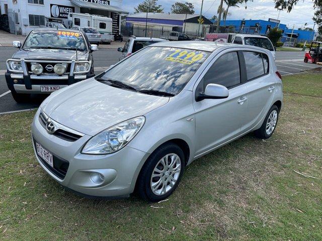 Used Hyundai i20 PB MY12 Active Clontarf, 2011 Hyundai i20 PB MY12 Active Silver 5 Speed Manual Hatchback
