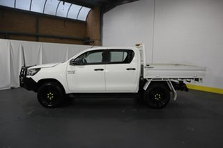 2018 Toyota Hilux GUN126R SR Double Cab White 6 Speed Sports Automatic Cab Chassis