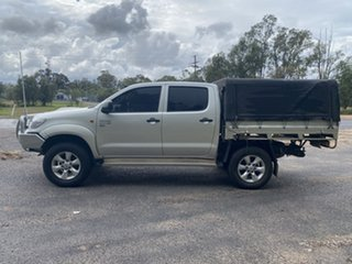 2012 Toyota Hilux KUN26R MY12 SR (4x4) Sterling Silver 5 Speed Manual Dual Cab Chassis