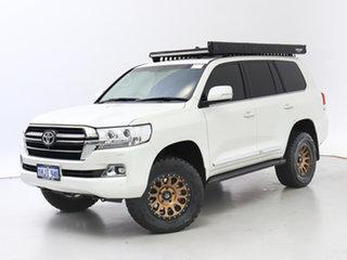2021 Toyota Landcruiser VDJ200R LC200 VX (4x4) Pearl White 6 Speed Automatic Wagon.