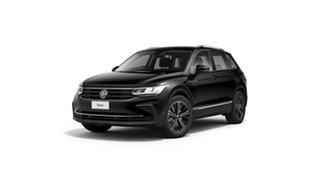 2021 Volkswagen Tiguan 5N MY21 132TSI Life DSG 4MOTION Deep Black Pearl Effect 7 Speed.