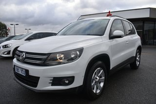 2014 Volkswagen Tiguan 5N MY14 132TSI DSG 4MOTION Pacific White 7 Speed Sports Automatic Dual Clutch.