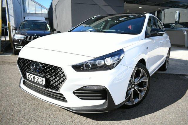 Demo Hyundai i30 PD.V4 MY21 N Line Premium Brookvale, 2021 Hyundai i30 PD.V4 MY21 N Line Premium Polar White 6 Speed Manual Hatchback
