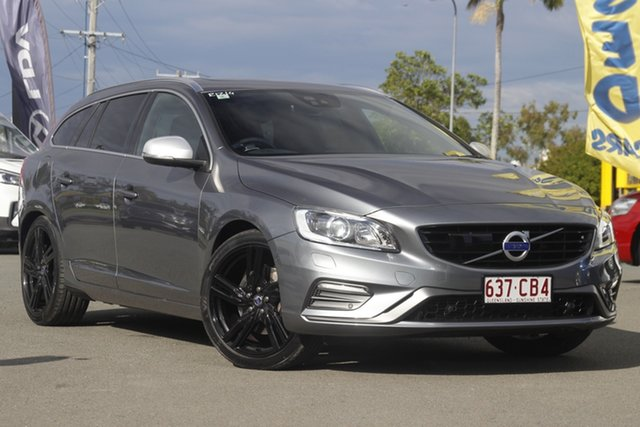 Used Volvo V60 F Series MY16 T6 Geartronic AWD R-Design Rocklea, 2016 Volvo V60 F Series MY16 T6 Geartronic AWD R-Design Osmium Grey/black 8 Speed Sports Automatic