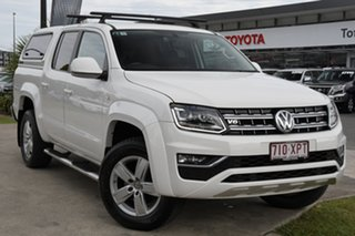 2017 Volkswagen Amarok 2H MY17 TDI550 4MOTION Perm Highline White 8 Speed Automatic Utility.