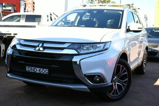 2016 Mitsubishi Outlander ZK MY17 LS Safety Pack (4x4) 7 Seats White Continuous Variable Wagon.