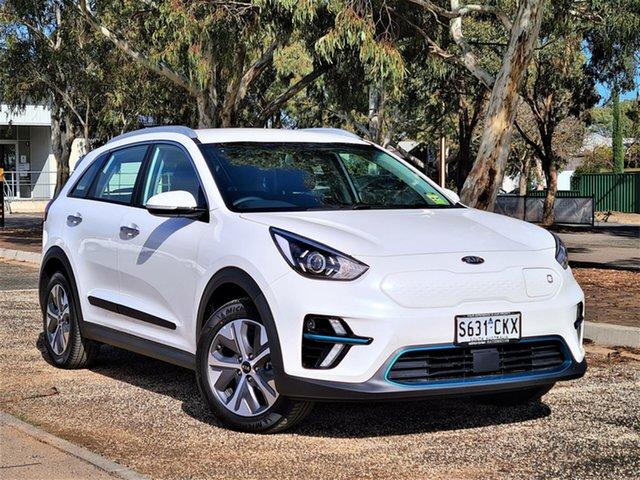 Demo Kia Niro DE 21MY EV 2WD S St Marys, 2021 Kia Niro DE 21MY EV 2WD S Snow White Pearl 1 Speed Reduction Gear Wagon