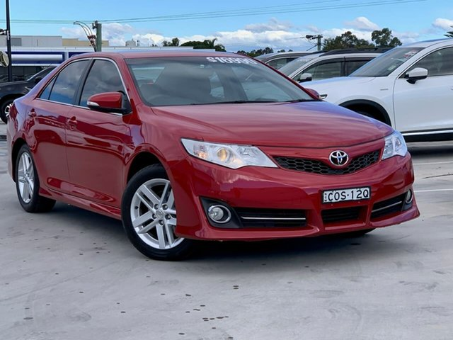 Used Toyota Camry ASV50R Atara R Liverpool, 2012 Toyota Camry ASV50R Atara R Red 6 Speed Sports Automatic Sedan