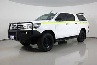 2017 Toyota Hilux GUN126R MY17 SR (4x4) White 6 Speed Automatic Dual Cab Utility.