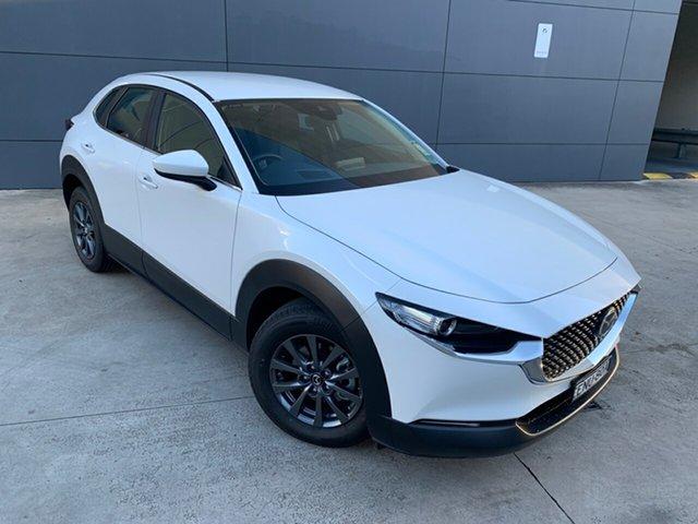 Demo Mazda CX-30 DM2W7A G20 SKYACTIV-Drive Pure Alexandria, 2021 Mazda CX-30 DM2W7A G20 SKYACTIV-Drive Pure Snowflake White 6 Speed Sports Automatic Wagon
