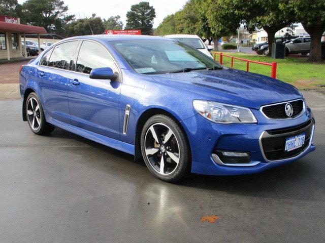 Used Holden Commodore SV6 Katanning, 2017 Holden Commodore VFII MY17 SV6 Blue 6 Speed Sports Automatic Sedan