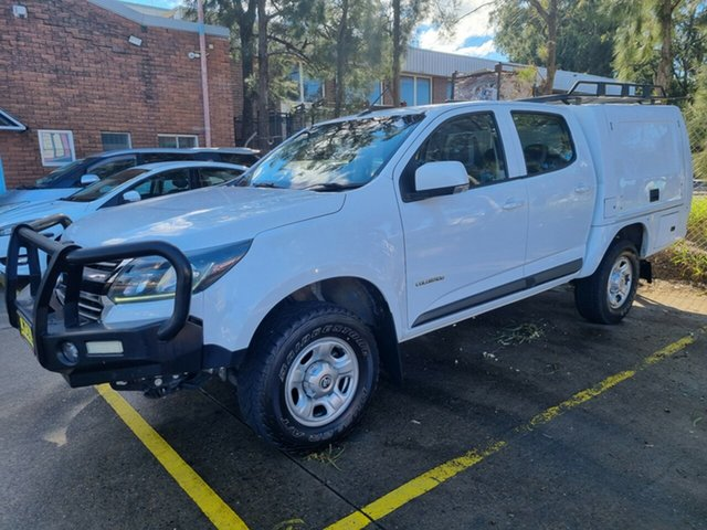 Used Holden Colorado RG MY18 LS (4x2) Bankstown, 2017 Holden Colorado RG MY18 LS (4x2) White 6 Speed Automatic Crew Cab Chassis