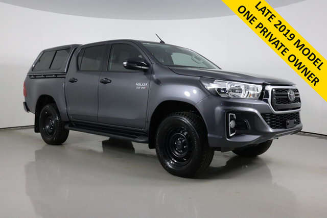 Used Toyota Hilux GUN126R MY19 Upgrade SR (4x4) Bentley, 2019 Toyota Hilux GUN126R MY19 Upgrade SR (4x4) Graphite 6 Speed Manual Double Cab Pick Up
