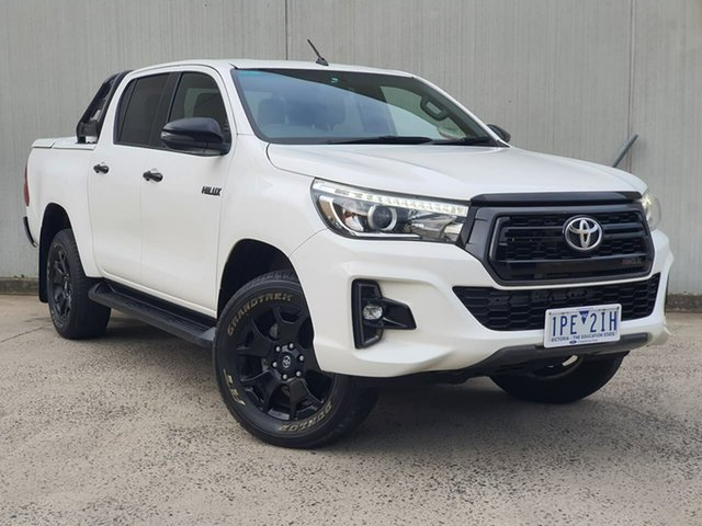 Used Toyota Hilux GUN126R Rogue Double Cab Oakleigh, 2018 Toyota Hilux GUN126R Rogue Double Cab White 6 Speed Sports Automatic Utility